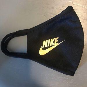 Nike gold black mask
